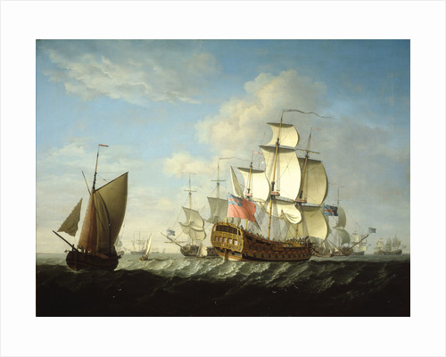 An English squadron getting under way by Francis Swaine