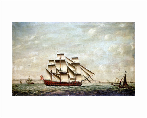 A two-decker and other vessels off Dover by Francis Holman