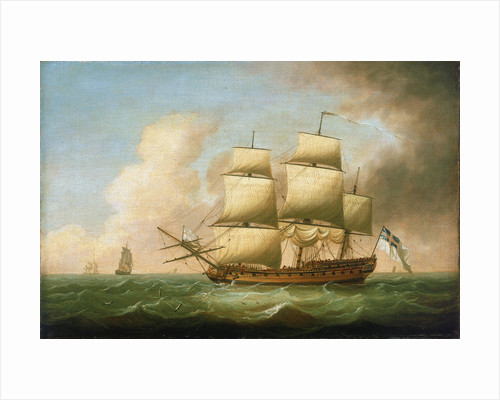 A frigate by Dominic Serres the Elder