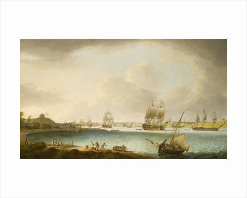 Men-of-war at Plymouth by Dominic Serres the Elder
