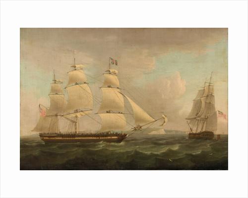 A merchantman off Dover by Thomas Whitcombe