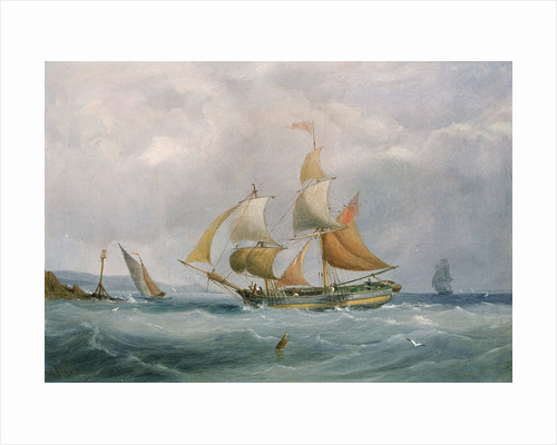 A trading brig entering the Bristol Avon by Joseph Walter