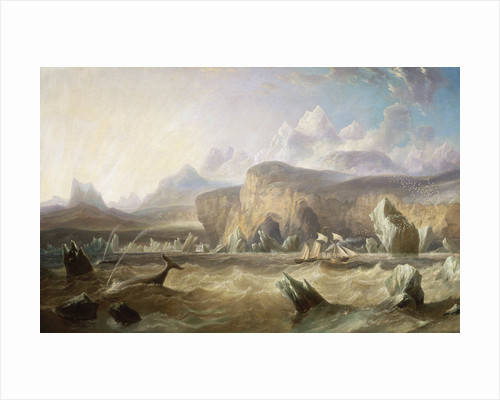 A whaler off a mountainous coast by John Wilson Carmichael