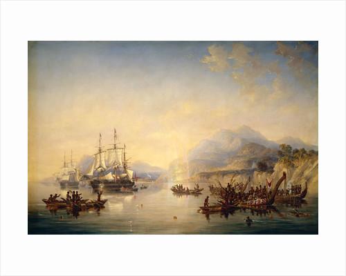'Erebus' and 'Terror' in New Zealand, August 1841 by John Wilson Carmichael