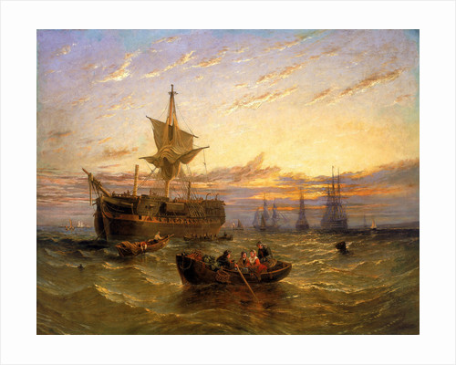 Indiamen in the Thames by William Adolphus Knell