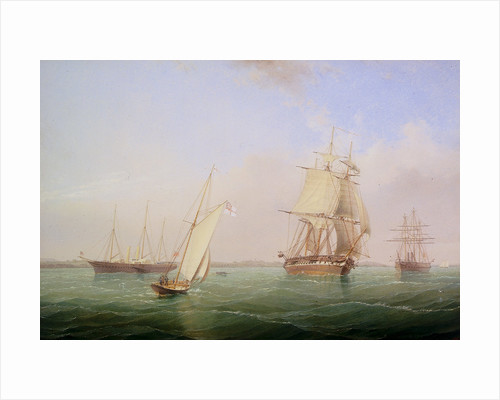 HMY 'Victoria and Albert II' and HMS 'Warrior' by William Frederick Settle