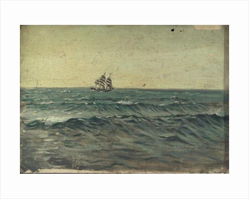A sailing ship by Herbert Barnard John Everett