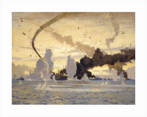 The 'Ohio' in the Malta convoy, 10-15 August 1942 by Norman Wilkinson