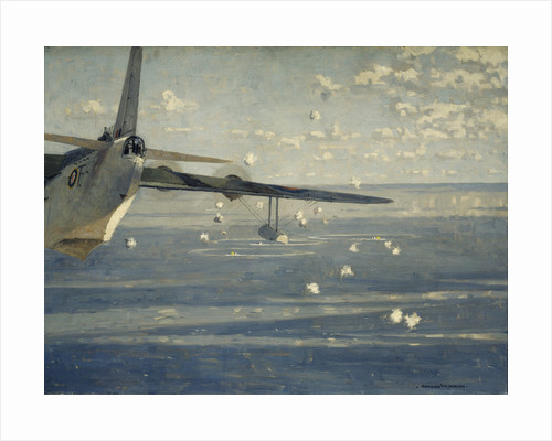 A Sunderland attacking a wolf pack by Norman Wilkinson