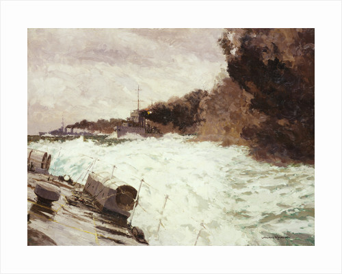 Destroyer smoke screen by Norman Wilkinson