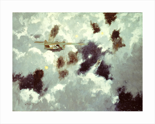 A Catalina flying boat sighting the 'Bismarck', 20 May 1941 by Norman Wilkinson
