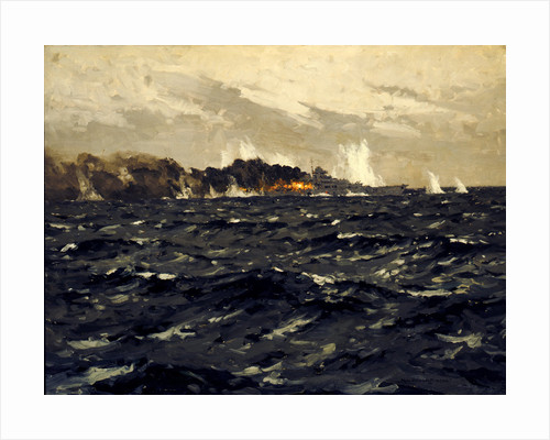 End of the 'Bismarck', 27 May 1941 by Norman Wilkinson