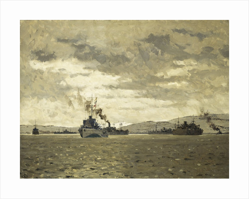 Convoy entering Murmansk by Norman Wilkinson