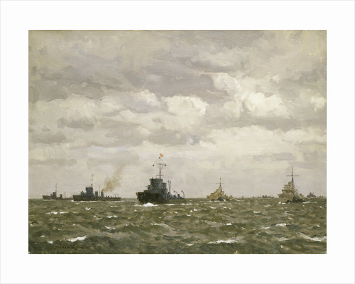 D-Day: sweeping ahead of the destroyers, early morning, 6 June 1944 by Norman Wilkinson