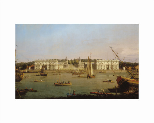 Greenwich Hospital from the north bank of the Thames by George Hawkins