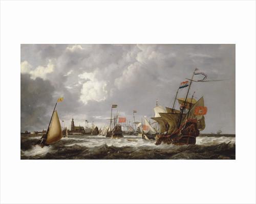 The 'Hercules' and 'Eenhorn' off Hoorn by Bonaventura Peeters the Elder