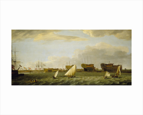 Blackwall yard from the Thames by Francis Holman