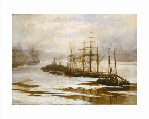The Pool of London in the frost, 1895 by Arthur Robertson