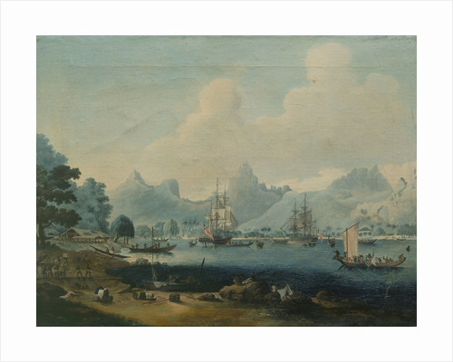 HMS 'Resolution' and 'Discovery' at Morea by John Cleveley
