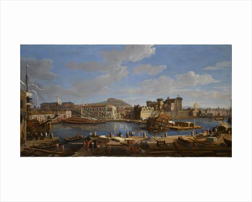 The Castello Nuova at Naples by Gaspar Adriaansz van Wittel