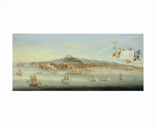 Panoramic View of the Bay of Naples by Gaspar Butler