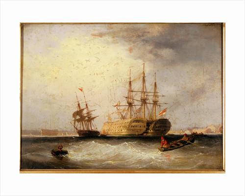 Hulks off Devonport by Nicholas Condy