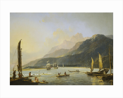 A view of Maitavie Bay, on the island of Otaheite (Tahiti) by William Hodges
