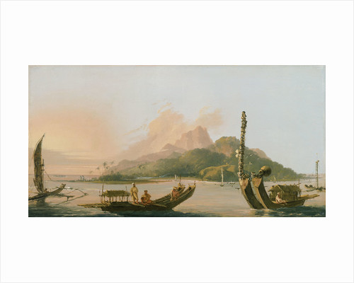Tahiti: Bearing south east 1773 by William Hodges