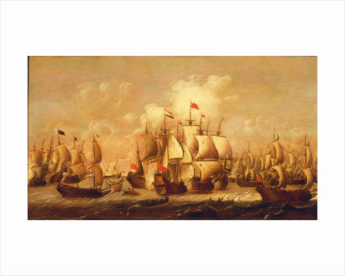 A battle of the First Dutch War, 1653 by Pieter Coopse