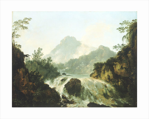 A cascade in the Tuaruru Valley, Tahiti by William Hodges