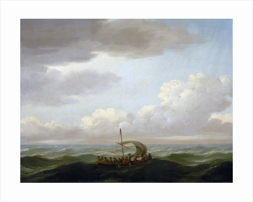 The yawl of the Luxborough galley by John Cleveley