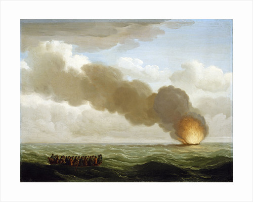 The Luxborough galley burnt right down by John Cleveley