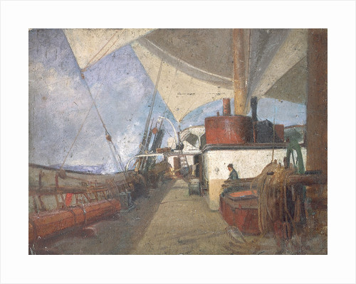 Deck scene on the 'Iquique' by John Everett