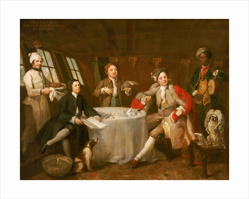 Captain Lord George Graham in his Cabin (1715-1747) by William Hogarth