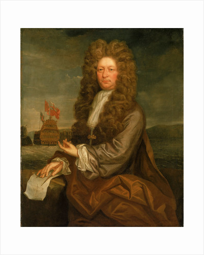 Fisher Harding, Master shipwright, with the Launch of the 'Royal Sovereign' by Jonathan Richardson