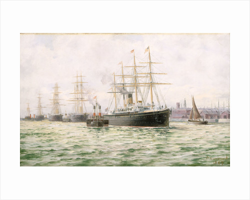 The White Star Line steamship 'Adriatic' leaving Liverpool by George Parker Greenwood