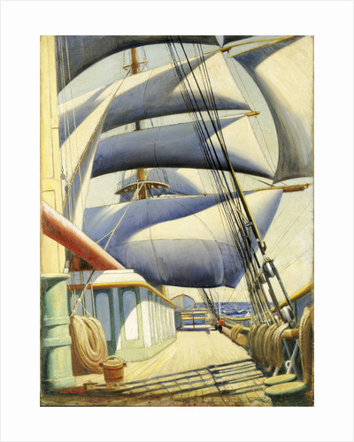 A view of the 'Endymion' aft in fair weather by John Everett