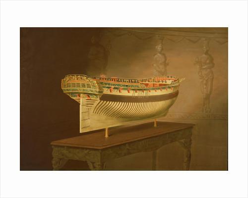 A model of HMS 'Enterprise' by Joseph Marshall