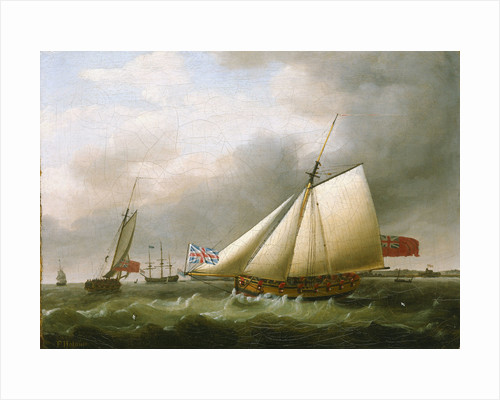 The Privateer 'Fly' and other vessels by Francis Holman