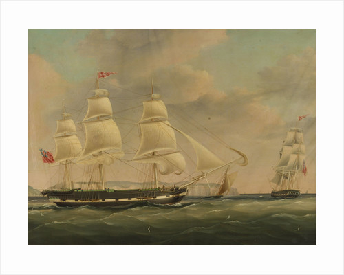 The ship 'Isabella' at sea by John Wilson Carmichael