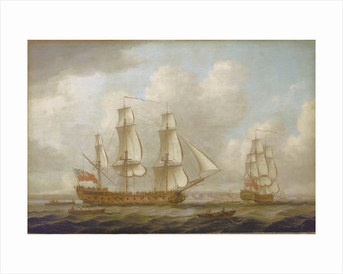 The East Indiaman 'Princess Royal' by John Cleveley