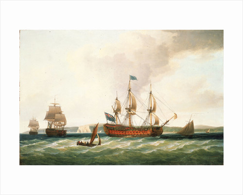 The 'St. George' and other vessels by Dominic Serres the Elder