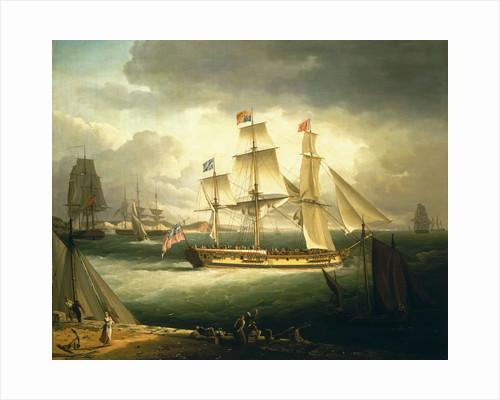 The 'Royal Sovereign' by John Thomas Serres