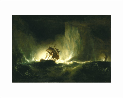 HMS 'Erebus' passing through the chain of bergs, 1842 by Richard Brydges Beechey