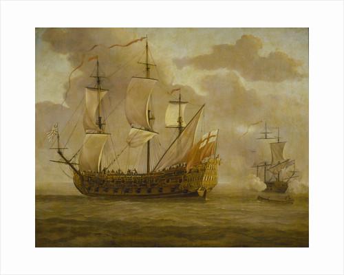 HMS 'Woolwich' before a light breeze by Willem van de Velde the Elder