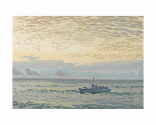 A rescue motor launch at sea by Stephen Bone