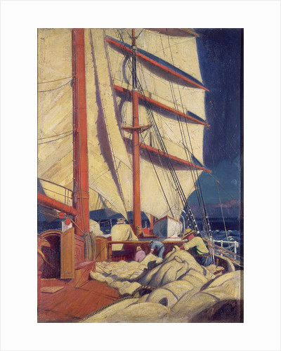 A scene from the deck of the 'Birkdale' by John Everett