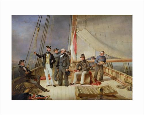 On board the yacht 'Alarm' by Nicolas Matthew Condy