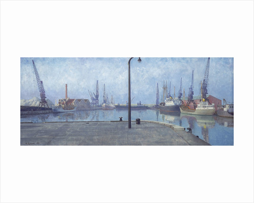 Docks at Goole, early morning, 1971 by Richard Ernst Eurich