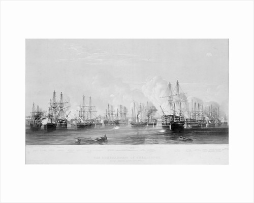The Bombardment of Sebastopol by the combined fleets, 17th Oct 1854 by E. Walker